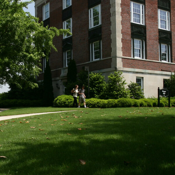 Students walking at Birmingham Southern College