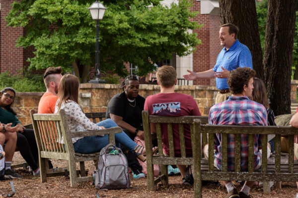 Outdoor class at Hendrix College