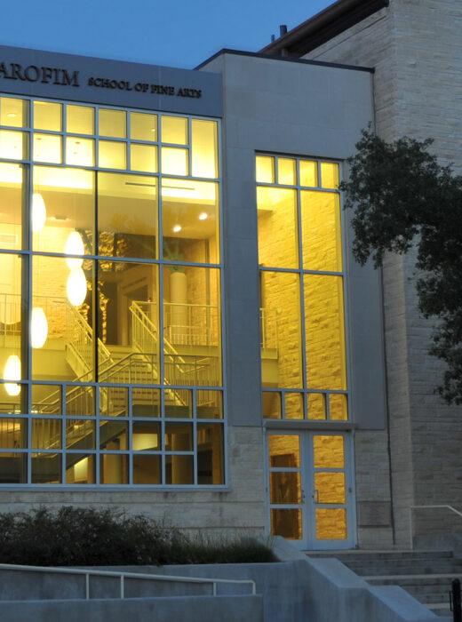 Building on Southwestern University campus